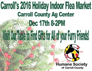 Carroll's 2016 Holiday Indoor Flea Market @ Carroll County Ag Center Shipley Arena | Westminster | Maryland | United States