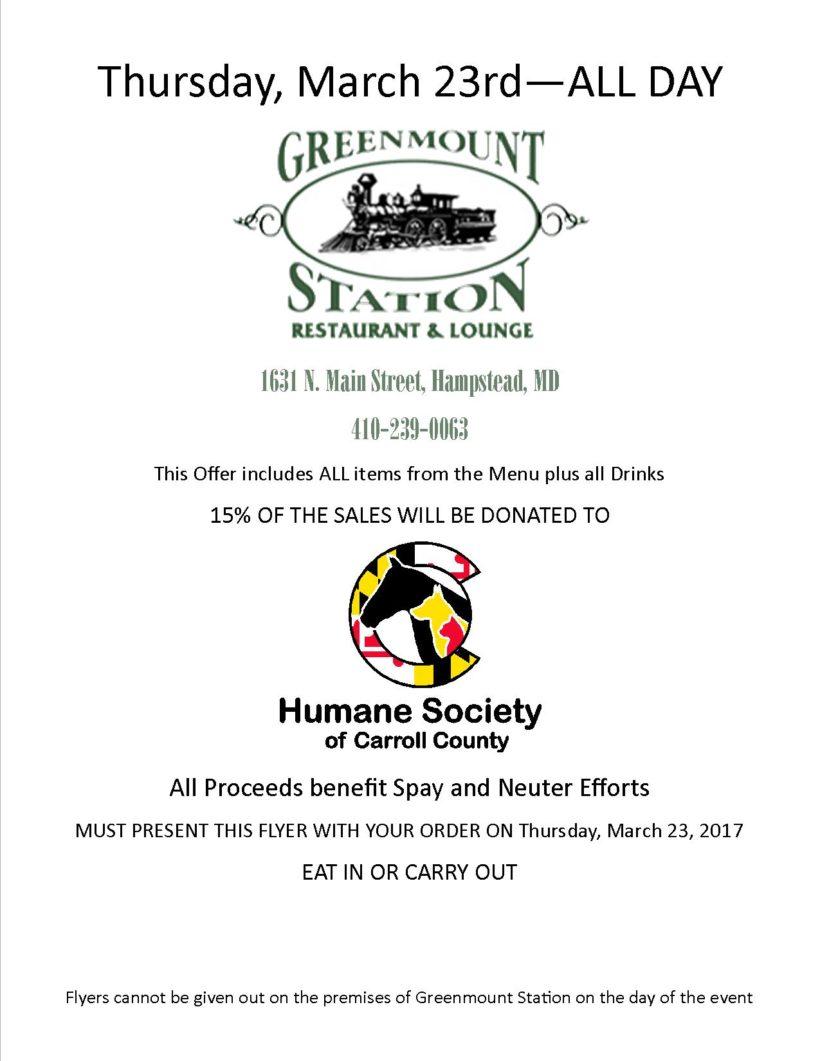 Greenmount Station Fundraiser