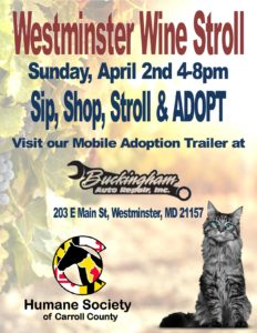 Westminster's Wine Stroll Adoption Event @ Buckingham Auto Repair | Westminster | Maryland | United States