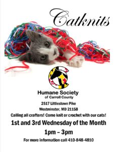 CatKnits *cancelled until further notice* @ Humane Society of Carroll County | Westminster | Maryland | United States