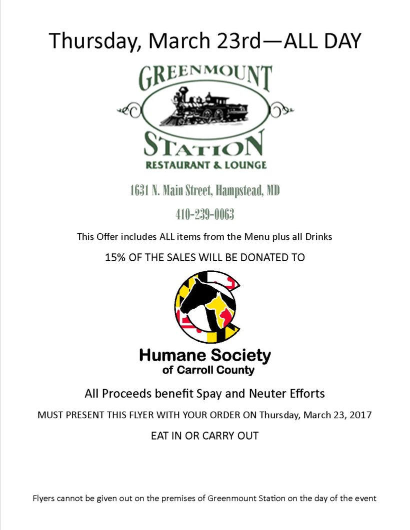 Greenmount Station Fundraiser