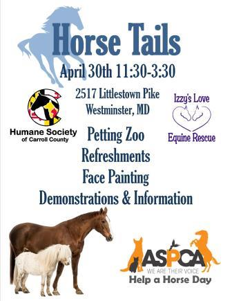Horse Tails ASPCA Help a Horse Day