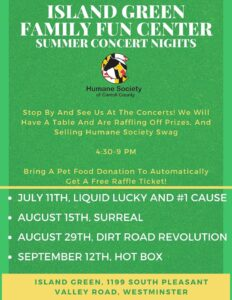 Island Green Family Fun Center Summer Concert Nights @ Island Green Family Fun Center