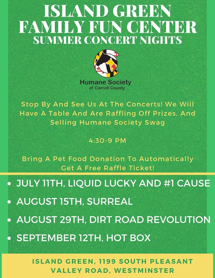 Island Green Family Fun Center Summer Concert Nights