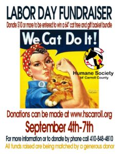 Labor Day Fundraiser @ Humane Society of Carroll County
