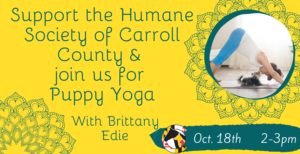 Puppy Yoga with Brittany Edie @ Humane Society of Carroll County