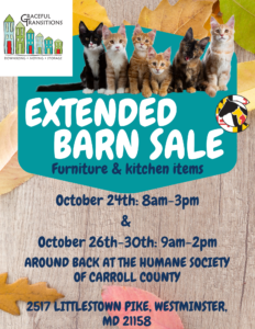 Barn Sale @ Humane Society of Carroll County | Westminster | Maryland | United States
