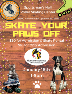 Skate your PAWS OFF @ Sportman's Hall Roller Skating Center