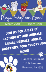 Mega Adoption Event @ PetSmart Hanover