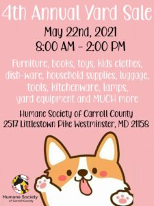 4th Annual Yard Sale @ Humane Society of Carroll County | Westminster | Maryland | United States