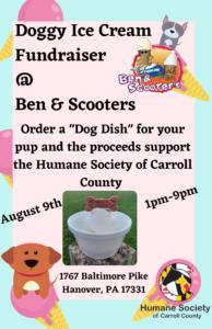Doggy Ice Cream Fundraiser @ Ben & Scooters Ice Cream