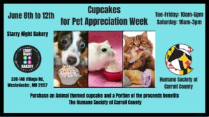 Cupcakes for Pet Appreciation Week! @ Starry Night Bakery