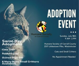 Adoption Event @ Humane Society of Carroll County